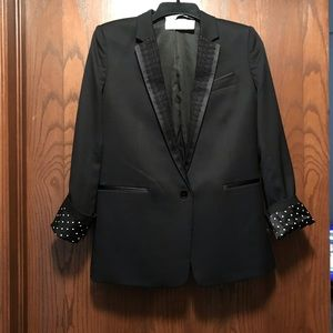 The Kooples lace lapel blazer sz36